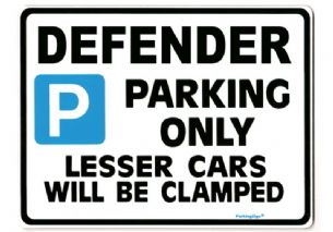 DEFENDER Large Metal Sign for LAND ROVER tdi gift